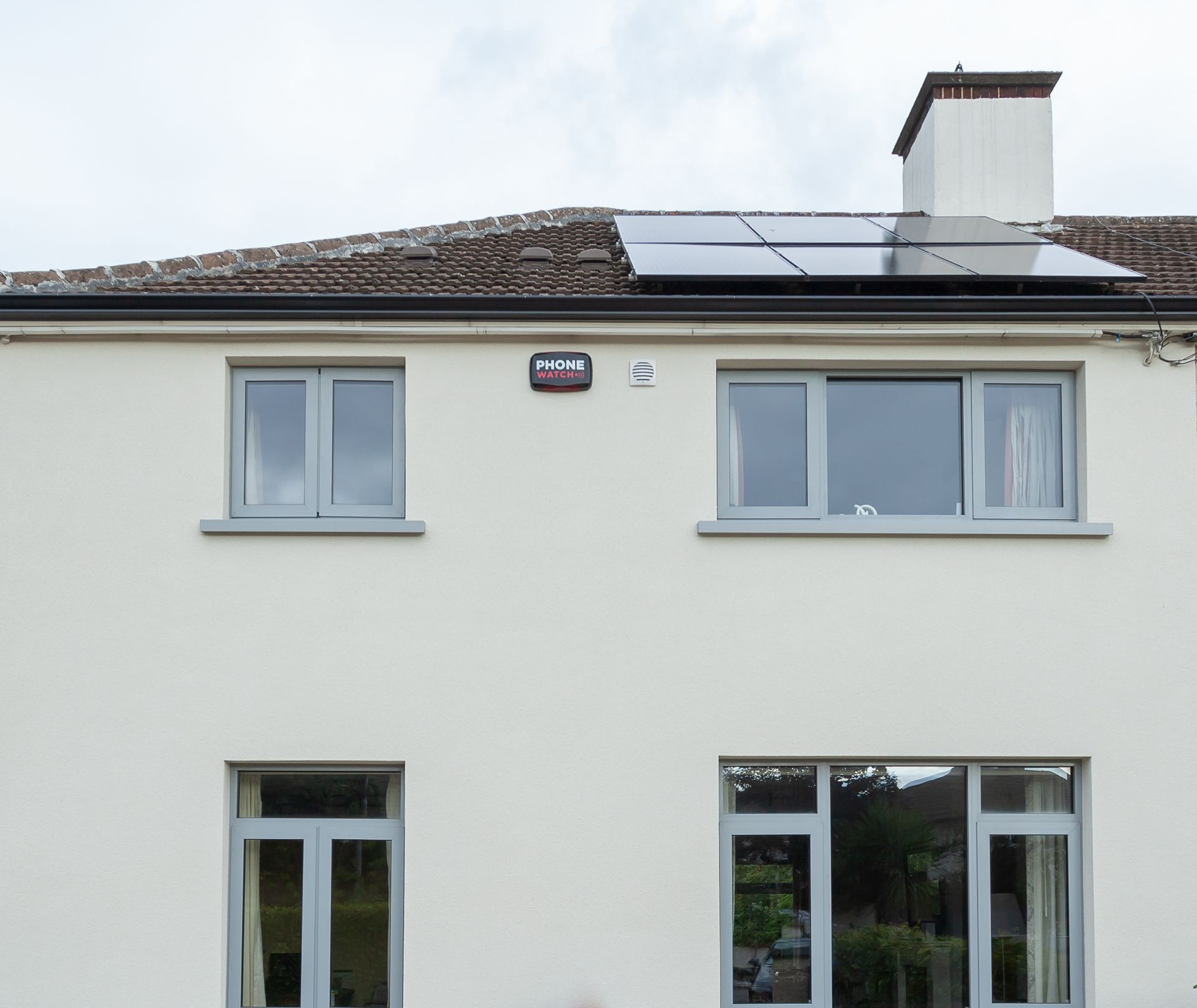 Solar PV panels on top of a roof in Ireland