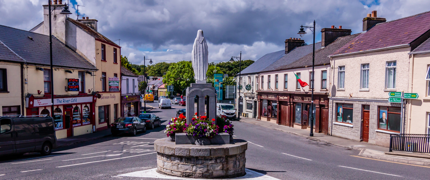 the village of Crossmolina, Co. Mayo