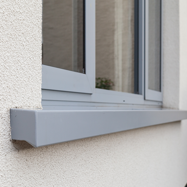 Aluminium Window Sill on a house with external wall insulation