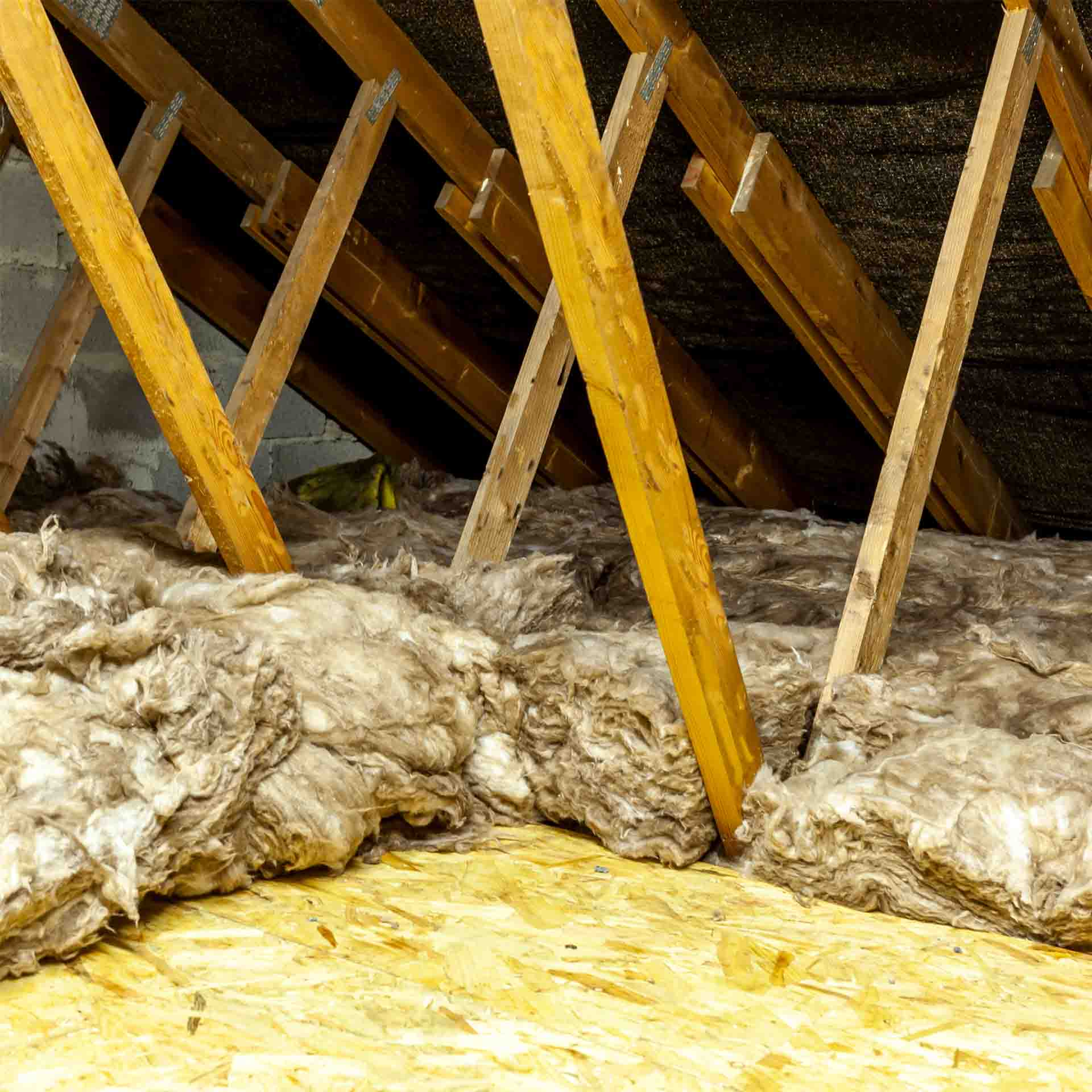 Rockwool attic insulation in an Irish home