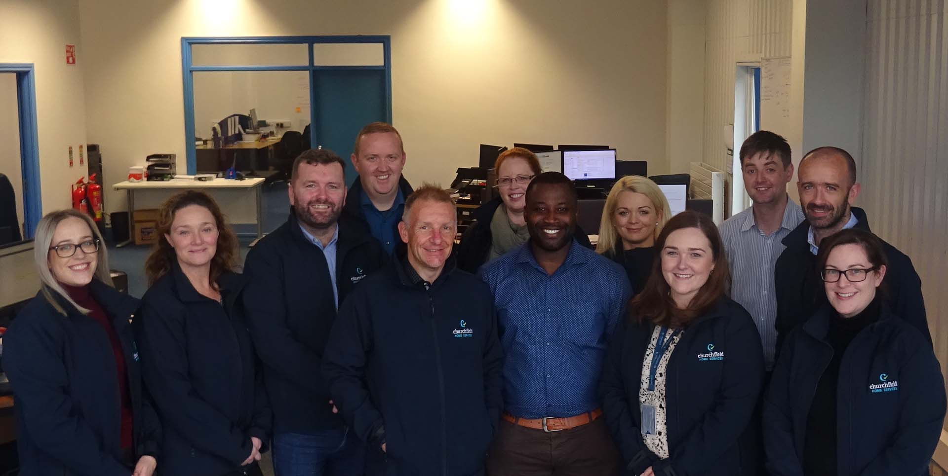 The Churchfield Home Services Customer Care team