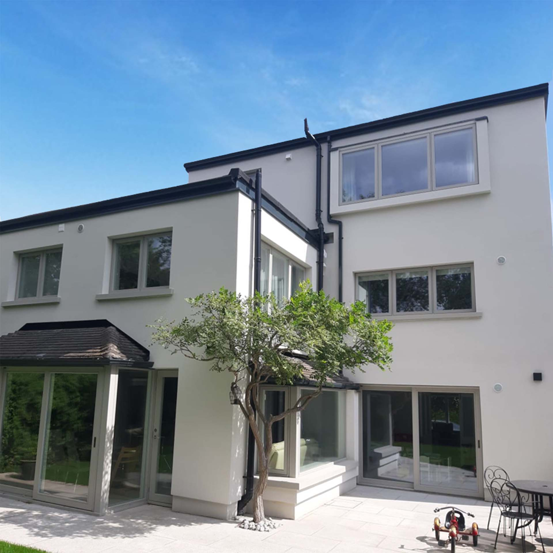 A beautiful home with external wall insulation.