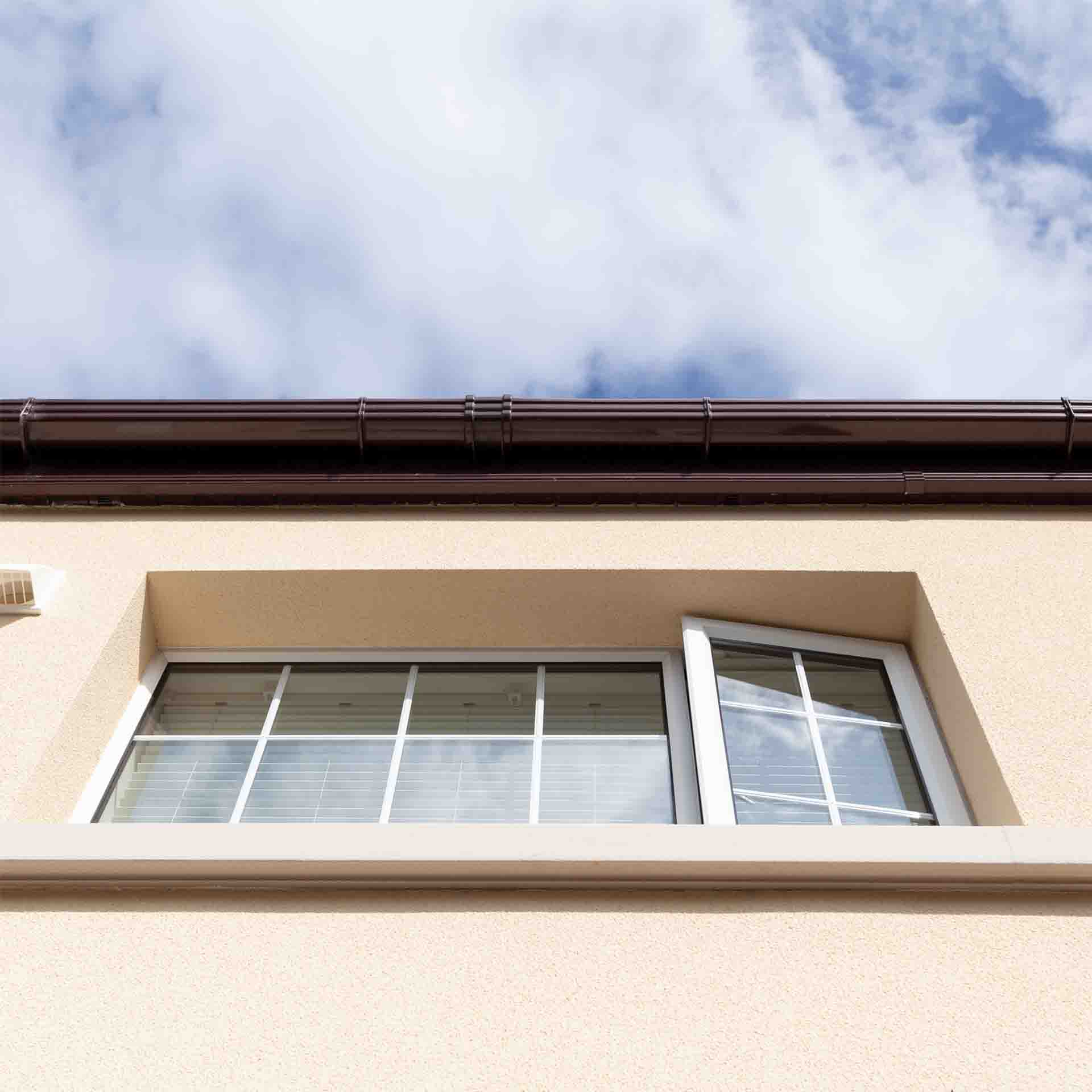 Example of a window replacement in a home that has external wall insulation.